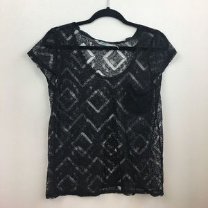 Urban Outfitters Lace T Shirt Size Medium
